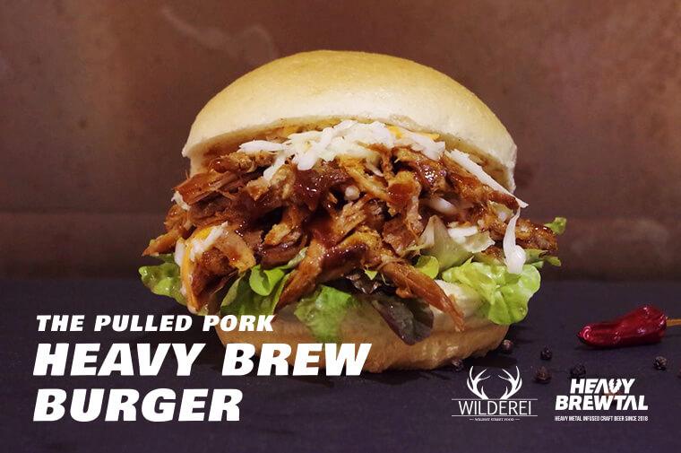 Pulled Pork HeavyBrew Burger