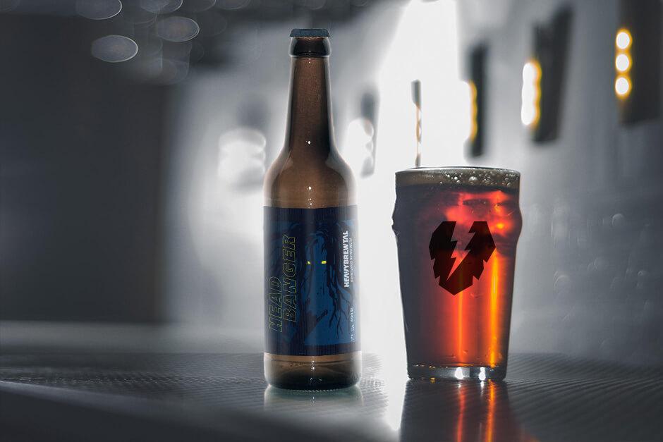 Heavy Brewtal Craftbeer Headbanger Brown Ale