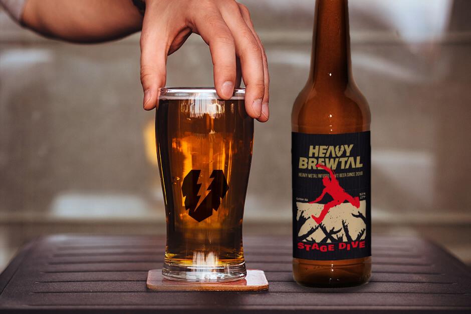 Heavy Brewtal Craftbeer Stage Dive Golden Ale